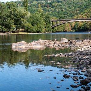 canoé dordogne pont de Brivezac